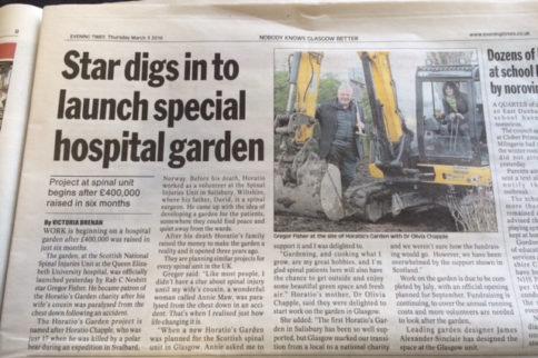 Building starts at Horatio's Garden Scotland