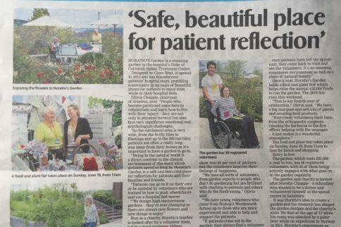 Salisbury Journal features Horatio's Garden