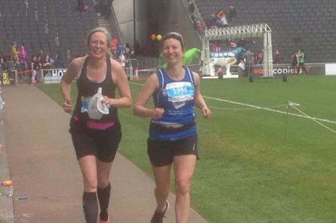 Artist Miranda Creswell completes her first marathon