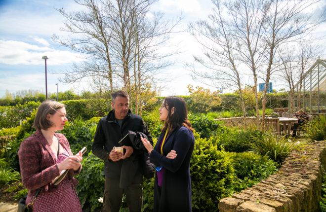 Cleve West Visit's Horatio's Garden Salisbury