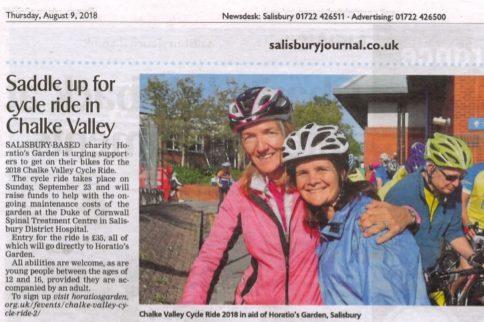 Chalke Valley Cycle in Salisbury Journal