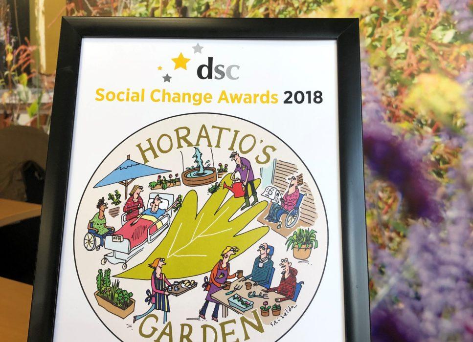 horatio's garden runner up at social change awards