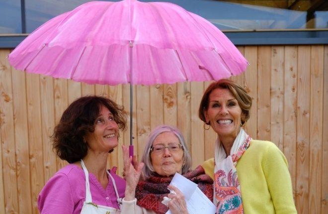 Guests Under Umbrella