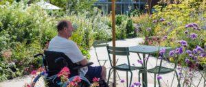 Patient enjoying Horatio's Garden Salisbury
