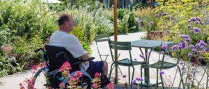 Patient enjoying Horatio's Garden