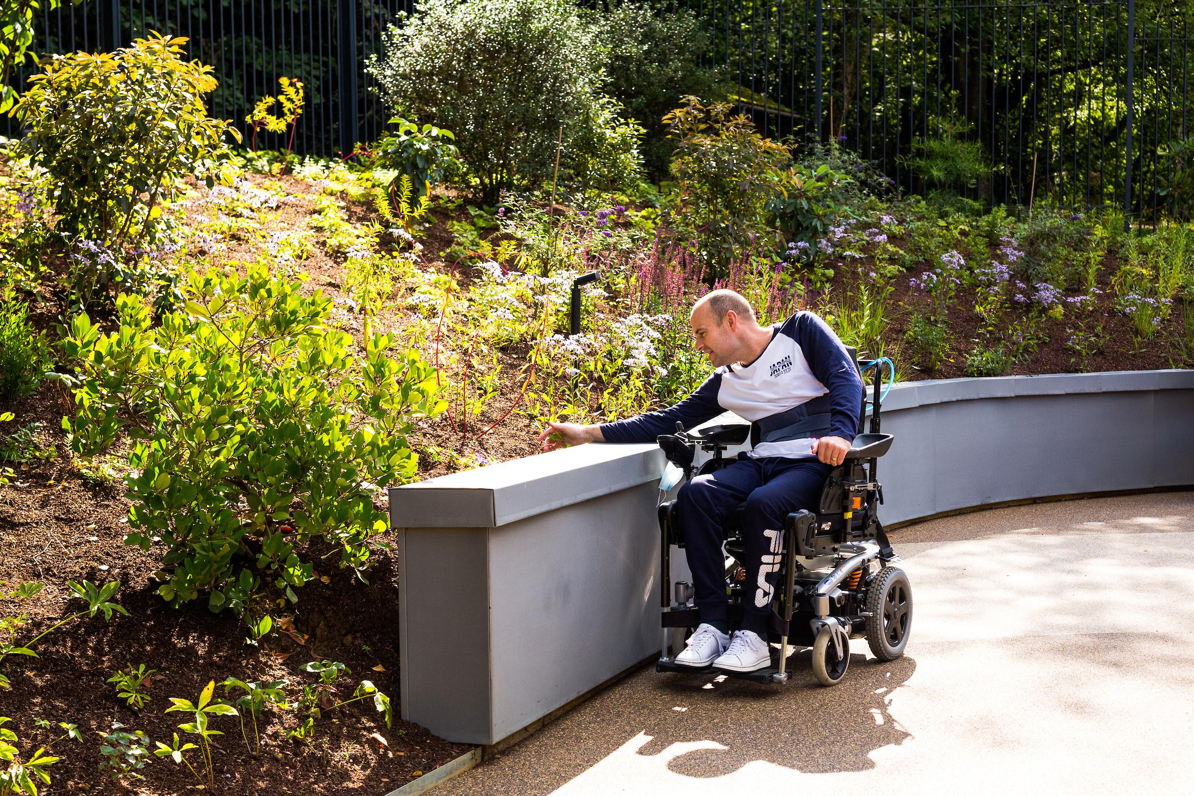 Patient in London garden